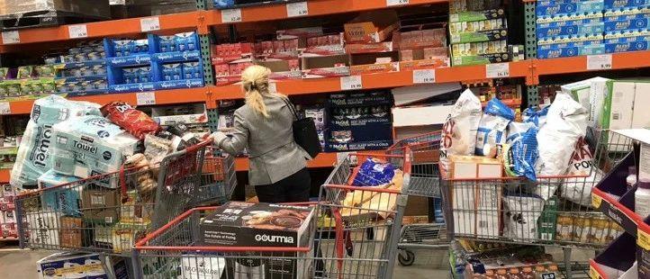 实拍北美各大超市告诉你:真的有必要疯狂囤粮吗?