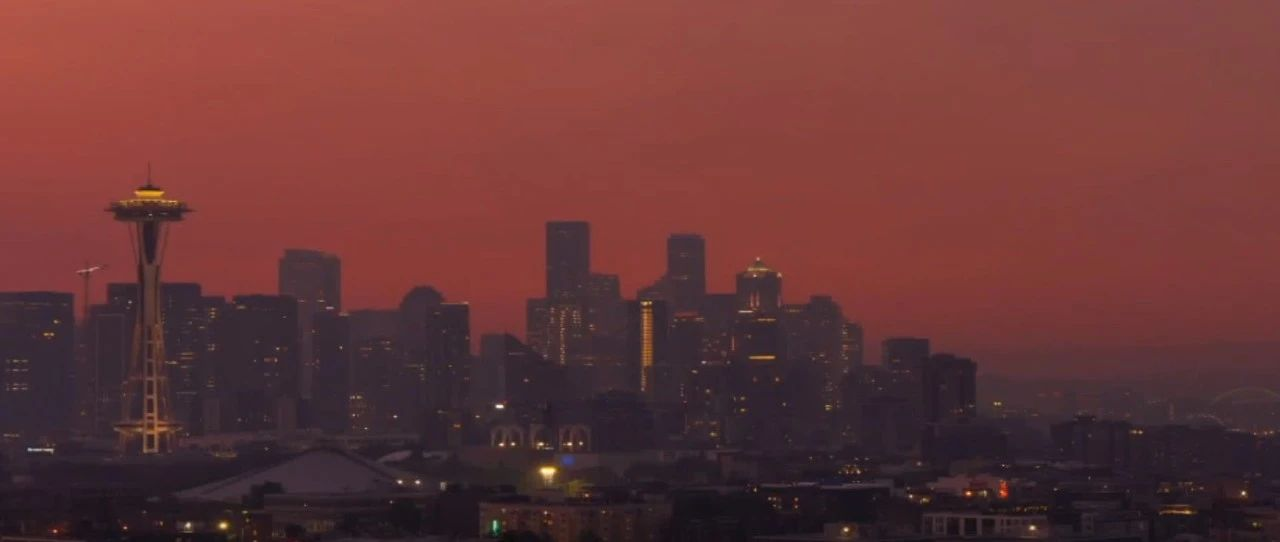 The red sky shows Seattle! The severe storm caused power outages to 8 people in Jin County and other places!