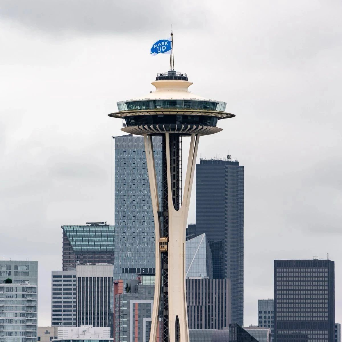 The Seattle Space Needle is reopened to tourists! Not accepting cash for ticket purchases