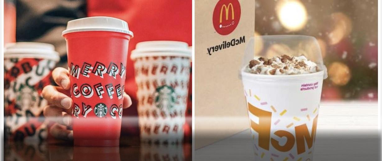 麦当劳PK星巴克 | 麦旋风限量款7年后回归, 白巧摩卡/甘栗拿铁等四款特饮, 你pick哪个?