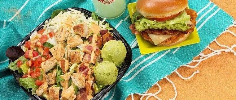 美国这家最低调的快餐巨头, 鸡肉辣汉堡, 沙拉,芝士烤土豆竟意外的好吃!